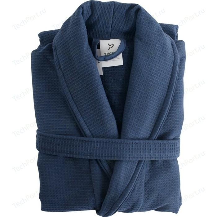 Халат банный темно-синего цвета L/XL Tkano Essential (TK18-BR0010)
