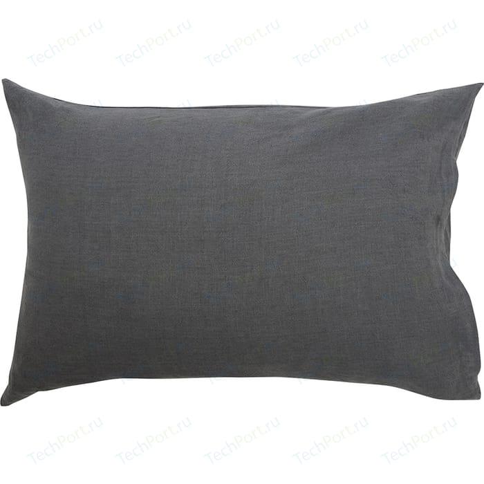 Наволочка темно-серого цвета 50х70 Tkano Essential (TK18-LP0009)
