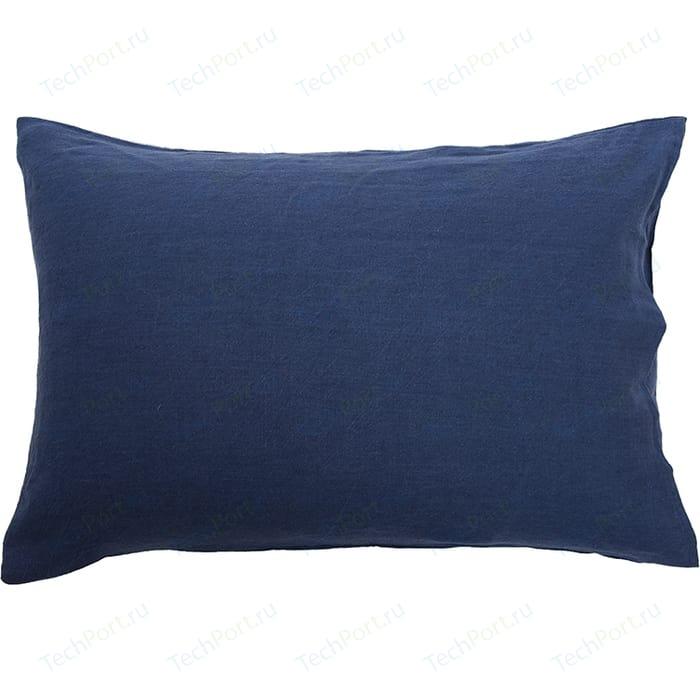 Наволочка темно-синего цвета 50х70 Tkano Essential (TK18-LP0001)