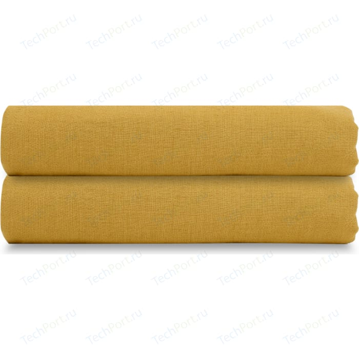 Простыня горчичного цвета 240х270 Tkano Essential (TK18-LS0027)