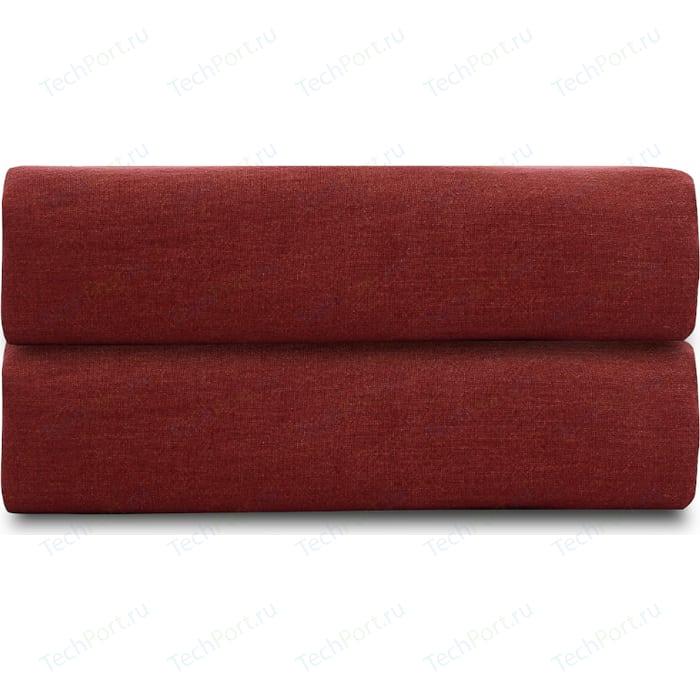 Простыня бордового цвета 240х270 Tkano Essential (TK18-LS0028)