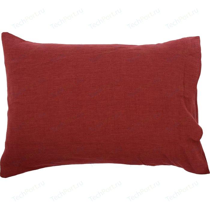 Наволочка бордового цвета 50х70 Tkano Essential (TK18-LP0007)