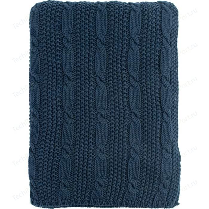 Плед с узором косы 180х130 Tkano Essential (TK18-TH0005)