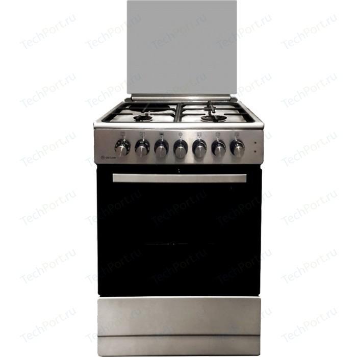 Комбинированная плита DeLuxe 606031.12гэ 000(кр)чр нержавеющая сталь