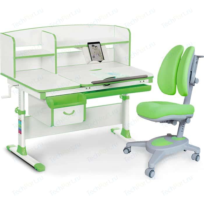 Комплект (стол+полка+кресло+чехол) Mealux Evo-kids Evo-50 Z (Evo-50 + Y-115 KZ) белая столешница/пластик зеленый