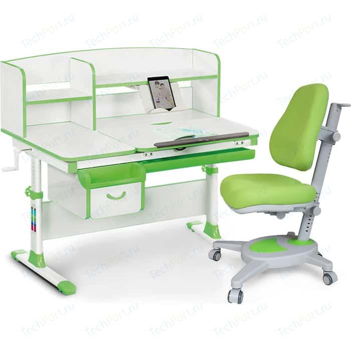 Комплект (стол+полка+кресло+чехол) Mealux Evo-kids Evo-50 Z (Evo-50 + Y-110 KZ) белая столешница/пластик зеленый