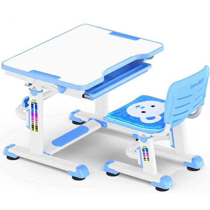 Комплект мебели (столик+стульчик) Mealux BD-08 Teddy blue столешница белая/пластик синий комплект защиты maxcity teddy m blue