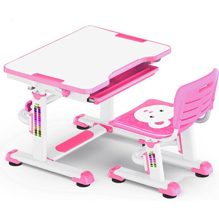 Комплект мебели (столик+стульчик) Mealux BD-08 Teddy pink столешница белая/пластик розовый