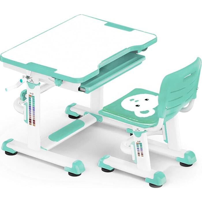Комплект мебели (столик+стульчик) Mealux BD-08 Teddy green столешница белая/пластик зеленый