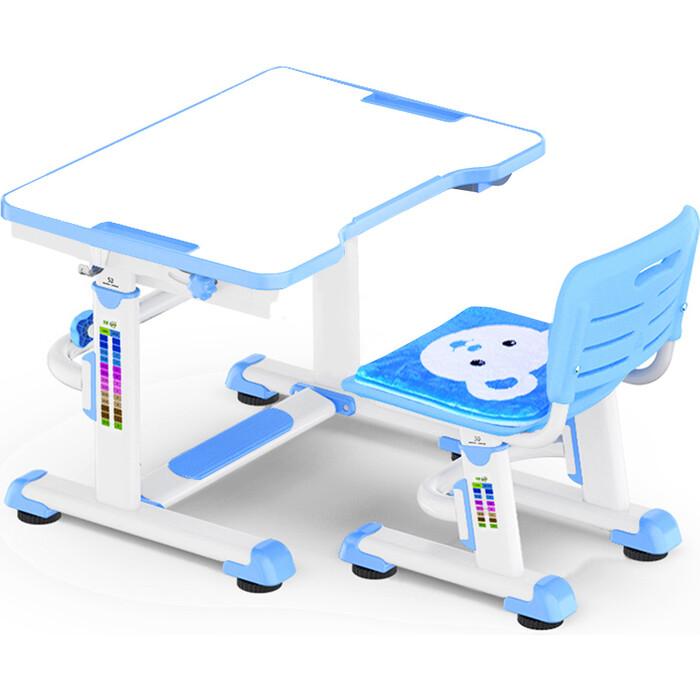Комплект мебели (столик+стульчик) Mealux BD-09 Teddy blue столешница белая/пластик голубой комплект защиты maxcity teddy m blue