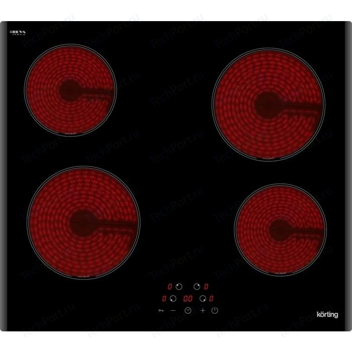 Электрическая варочная панель Korting HK 60003 B варочная панель korting hk 63552 b