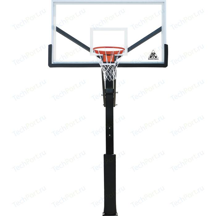 Баскетбольная стационарная стойка DFC ING72GU 180x105 см стекло 10мм