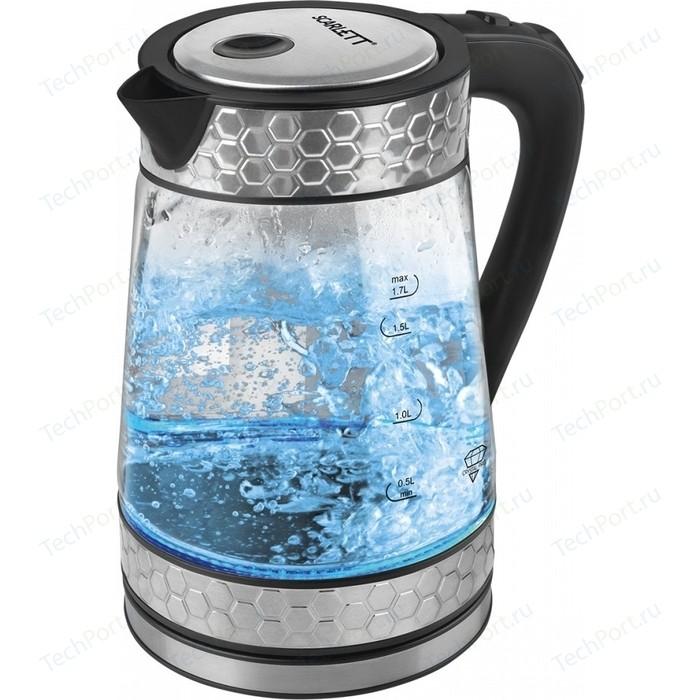 Чайник электрический Scarlett SC-EK27G58 чайник электрический scarlett sc ek18p53 1л 1600вт белый серый корпус пластик