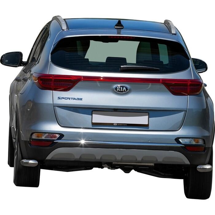 Защита заднего бампера d42 уголки Rival для Hyundai Tucson III (кроме High-Tech Plus) (2018-н.в.) / Kia Sportage IV (в том числе GT-Line) (2018-н.в.), R.2311.010