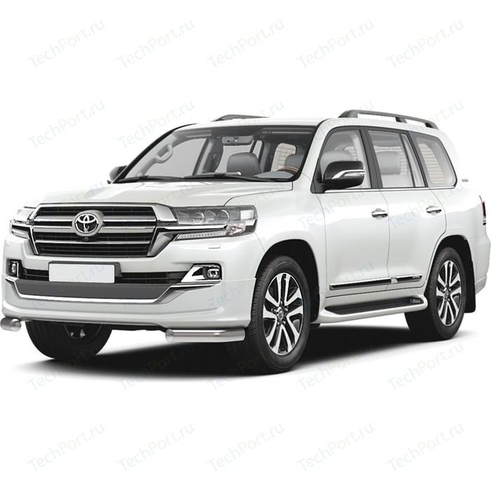 Защита переднего бампера d76 уголки Rival для Toyota Land Cruiser 200 рестайлинг (Executive Lounge) (2018-н.в.), 2 части, R.5724.002