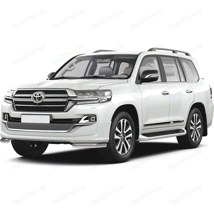 Защита переднего бампера d57 уголки Rival для Toyota Land Cruiser 200 рестайлинг (Executive Lounge) (2018-н.в.), 2 части, R.5724.003