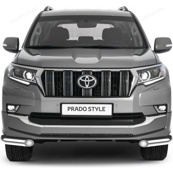 Защита переднего бампера d76 уголки Rival для Toyota Land Cruiser Prado 150 рестайлинг (Style) (2019-н.в.), 2 части, R.5723.003