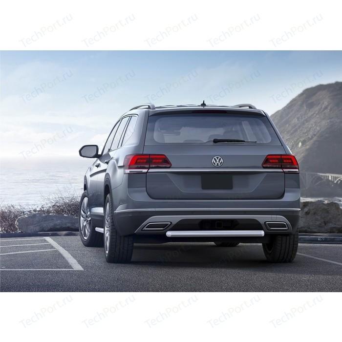 боковые подножки пороги bmw style алюминий rival d193al 5805 1 для volkswagen teramont 2017 Защита заднего бампера d57 Rival для Volkswagen Teramont I (2018-н.в.), R.5805.005