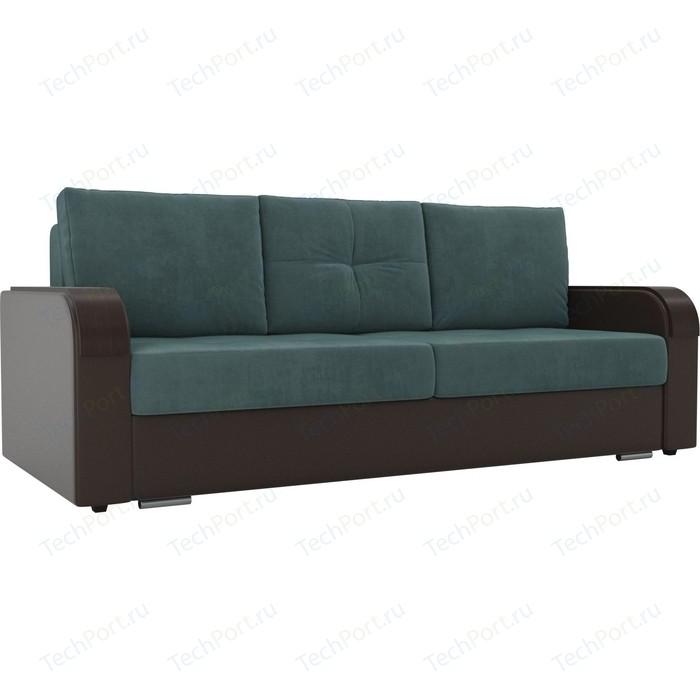 Фото - Прямой диван Лига Диванов Мейсон велюр бирюза экокожа коричневый прямой диван лига диванов мейсон микровельвет коричневый экокожа бежевый