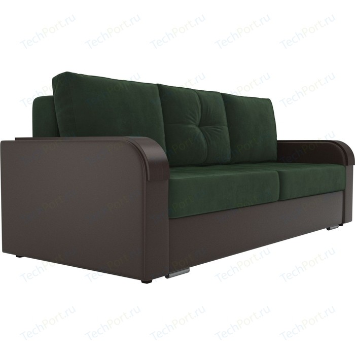 Фото - Прямой диван Лига Диванов Мейсон велюр зеленый экокожа коричневый прямой диван лига диванов мейсон микровельвет коричневый экокожа бежевый