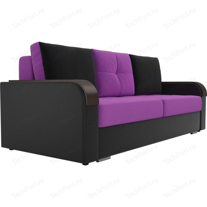 Фото - Прямой диван Лига Диванов Мейсон микровельвет фиолетовый экокожа черный прямой диван лига диванов мейсон микровельвет коричневый экокожа бежевый