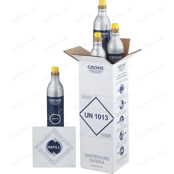 Комплект баллонов с углекислым газом Grohe GROHE Blue Accessories 4 штуки, 425 г (40422000)