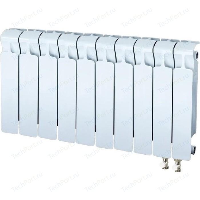 Радиатор отопления RIFAR MONOLIT VENTIL 350 10 секций биметаллический нижнее правое подключение (RM35010НП50) радиатор отопления rifar monolit ventil 500 mvr 12 секций биметаллический нижнее правое подключение rm50012 нп50