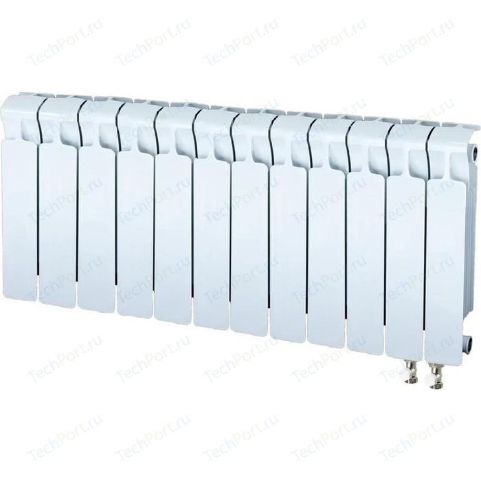 Радиатор отопления RIFAR MONOLIT VENTIL 350 12 секций биметаллический нижнее правое подключение (RM35012НП50) радиатор отопления rifar monolit ventil 500 6 секций биметаллический нижнее правое подключение rm50006 нп50