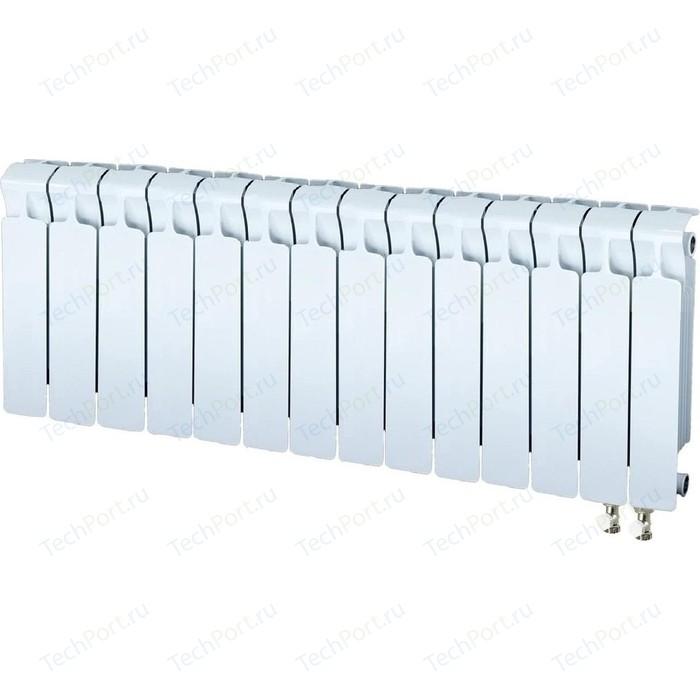 Радиатор отопления RIFAR MONOLIT VENTIL 350 14 секций биметаллический нижнее правое подключение (RM35014НП50) радиатор отопления rifar monolit ventil 500 6 секций биметаллический нижнее правое подключение rm50006 нп50