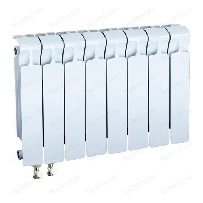 Радиатор отопления RIFAR MONOLIT VENTIL 350 8 секций биметаллический нижнее левое подключение (RM35008НЛ50) биметаллический радиатор rifar рифар b 500 нп 10 сек лев кол во секций 10 мощность вт 2040 подключение левое