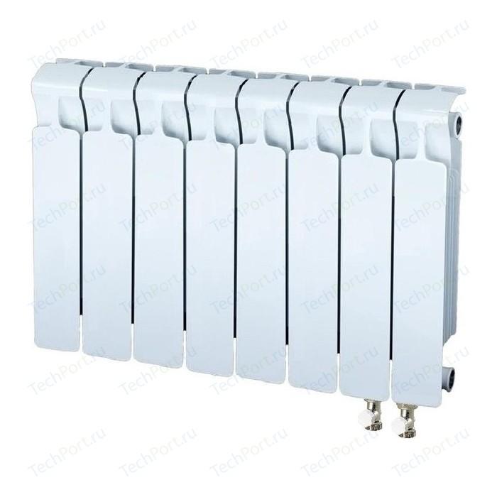 Радиатор отопления RIFAR MONOLIT VENTIL 350 8 секций биметаллический нижнее правое подключение (RM35008НП50) радиатор отопления rifar monolit ventil 500 mvr 12 секций биметаллический нижнее правое подключение rm50012 нп50