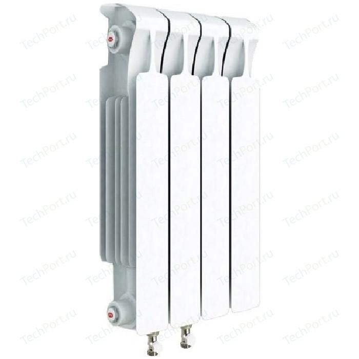 Радиатор отопления RIFAR MONOLIT VENTIL 500 4 секций биметаллический нижнее левое подключение (RM50004 НЛ50) биметаллический радиатор rifar рифар b 500 нп 10 сек лев кол во секций 10 мощность вт 2040 подключение левое