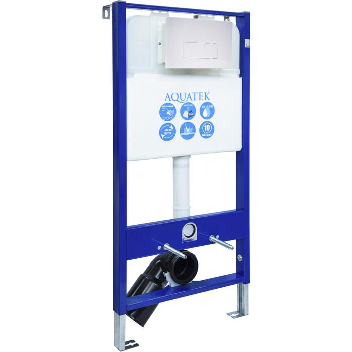 Инсталляция Aquatek Slim V с белой клавишей (INS-0000003)