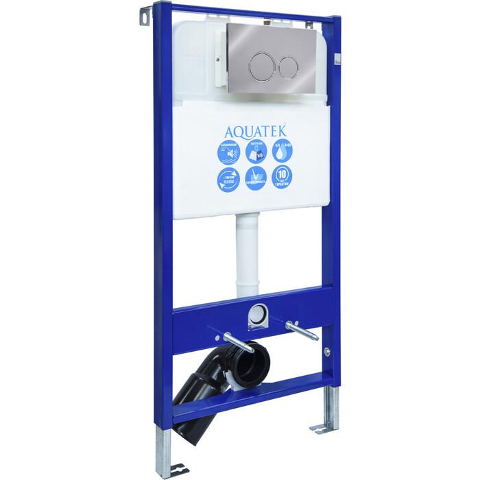 Инсталляция Aquatek Slim R с клавишей хром (INS-0000004)