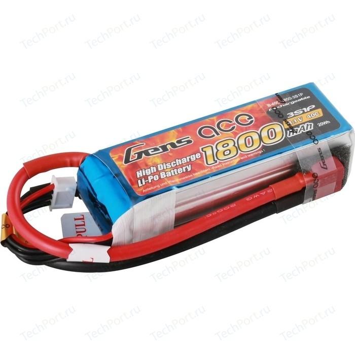 Аккумулятор Gens Li-Po - 11.1В 1800мАч 40C (3S1P) T-PLUG B-40C-1800-3S1P
