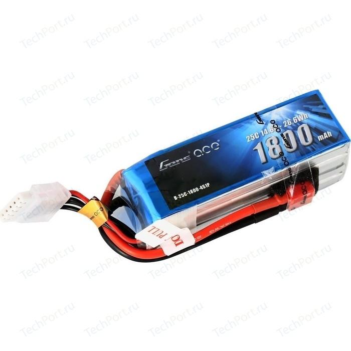 Аккумулятор Gens Li-Po - 14.8В 1800мАч 25C (4S1P) T-PLUG - B-25C-1800-4S1P
