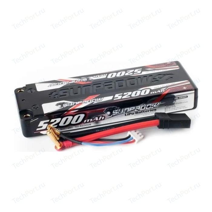 Аккумулятор Sunpadow Li-Po 2S1P 5200mAh 45C 90C TRX SLIM Hardcase - SP-5200-2-45C-S-TRX