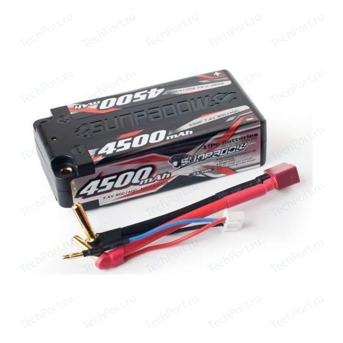 Аккумулятор Sunpadow Li-Po 2S2P 4500mAh 40C 80C T-PLUG Short Pack - SP-4500-2-40C-SH-D