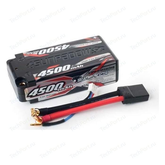 Аккумулятор Sunpadow Li-Po 2S2P 4500mAh 40C 80C TRX Short Pack - SP-4500-2-40C-SH-TRX