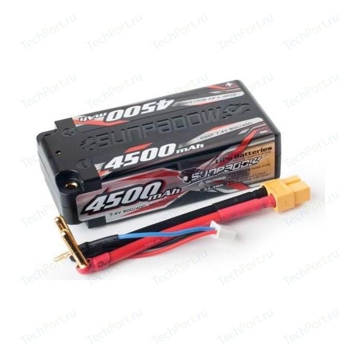 Аккумулятор Sunpadow Li-Po 2S2P 4500mAh 40C 80C XT60 Short Pack - SP-4500-2-40C-SH-XT