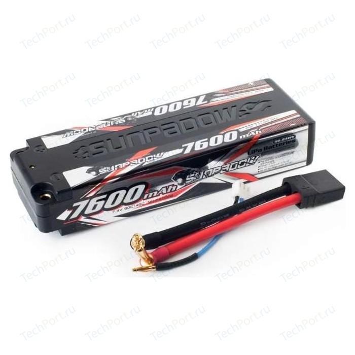 Аккумулятор Sunpadow Li-Po 2S2P 7600mAh 45C 90C TRX Hardcase - SP-7600-2-45C-S-TRX