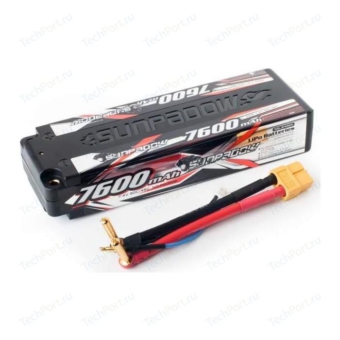 Аккумулятор Sunpadow Li-Po 2S2P 7600mAh 45C 90C XT60 Hardcase - SP-7600-2-45C-S-XT