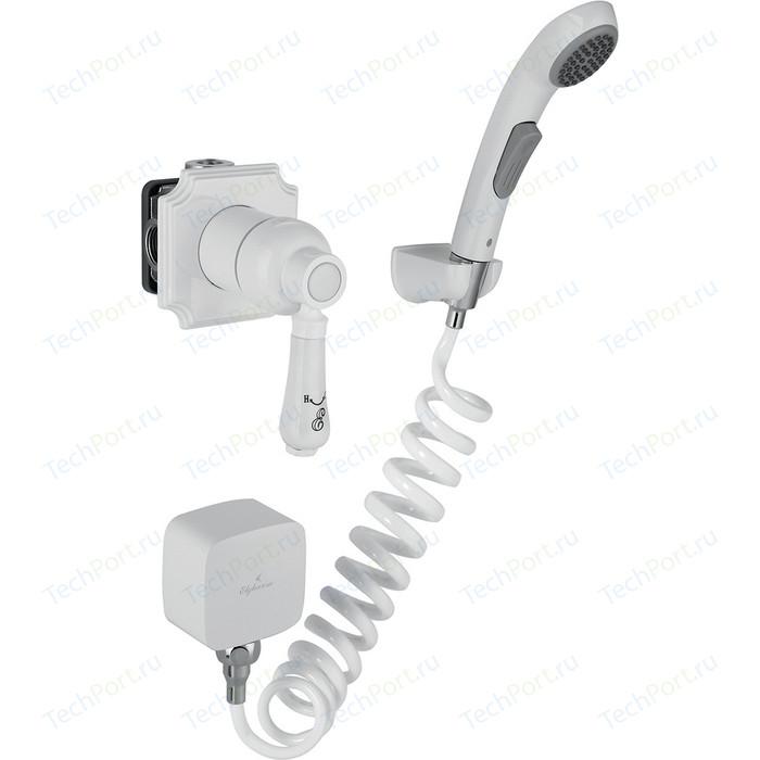 Смеситель для душа Elghansa Terrakotta с гигиеническим душем, белый (34C0786-White (Set-51))