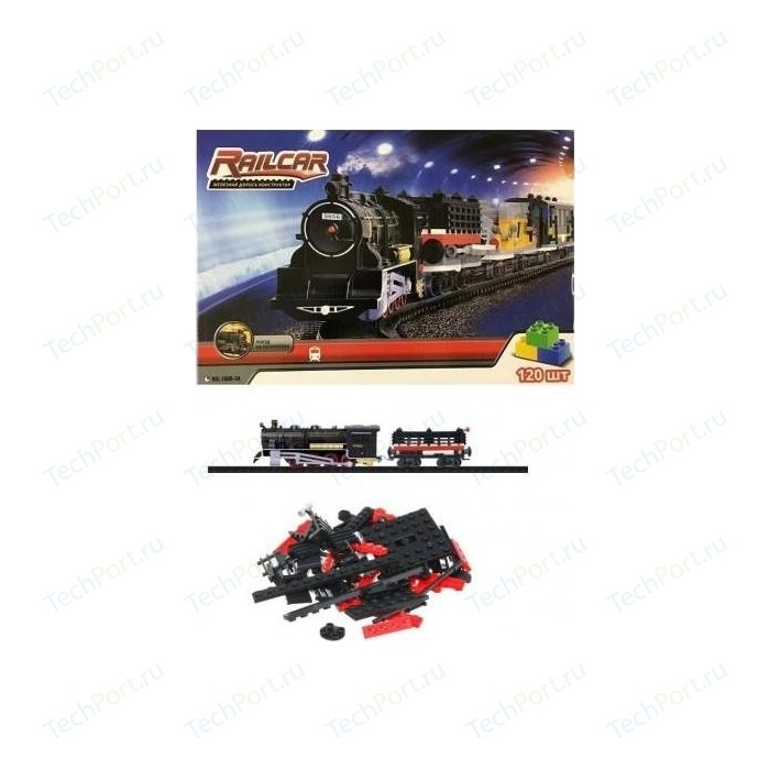 Железная дорога Fenfa 120 деталей, с локомотивом - 1608-3A