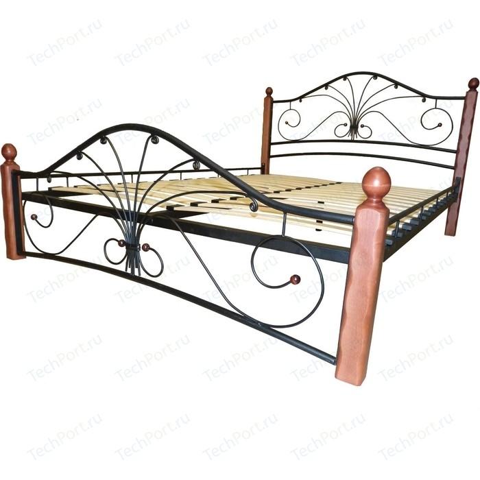 Кровать ГЗМИ Фортуна 1 черный-махагон 120