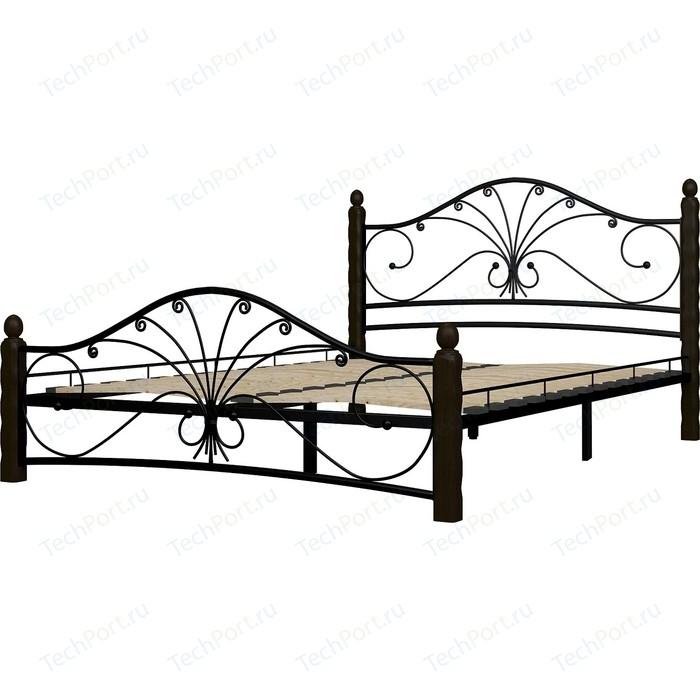 Кровать ГЗМИ Фортуна 1 черный-шоколад 120