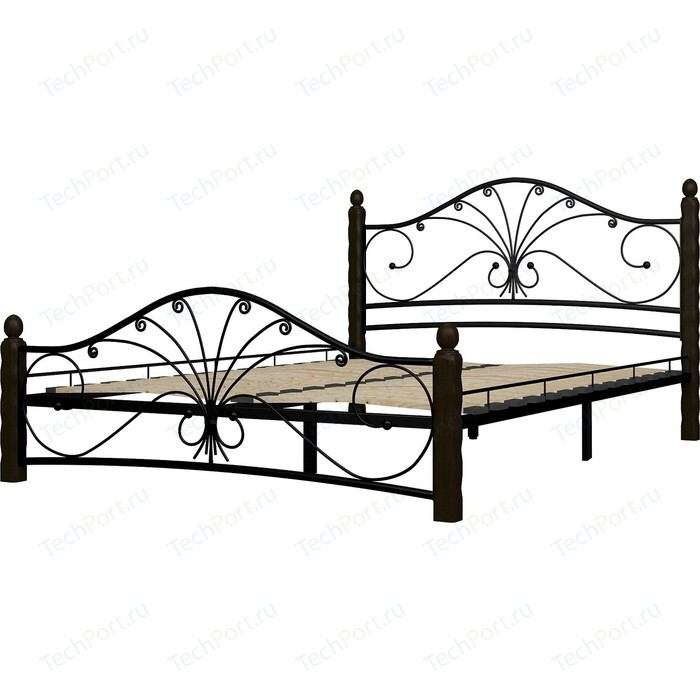 Кровать ГЗМИ Фортуна 1 черный-шоколад 140