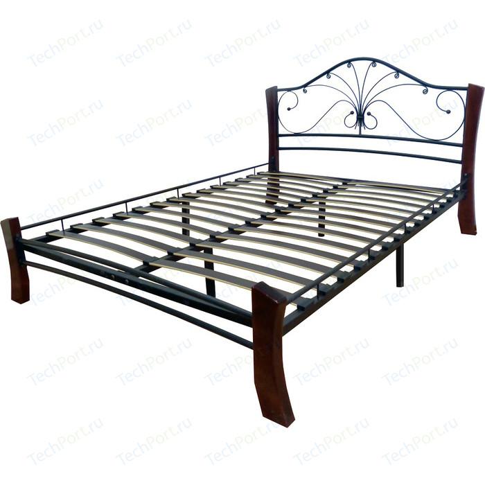 Кровать ГЗМИ Фортуна 4 лайт черный-шоколад 160