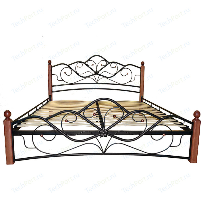 Кровать ГЗМИ Венера 1 черный-махагон 160