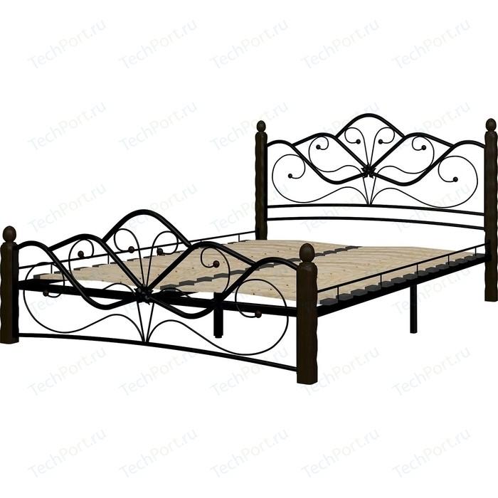 Кровать ГЗМИ Венера 1 черный-шоколад 140
